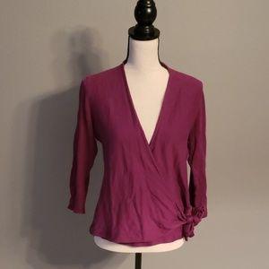 Ann Taylor Wrap Shirt Size Medium